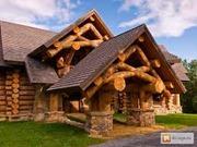 Строительство домов из оцилиндрованного и рубленного бревна.
